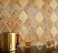 Margot, Tiger's Eye jewel glass and 24K gold glass mosaic | Aurora™ Collection | Sara Baldwin | New Ravenna