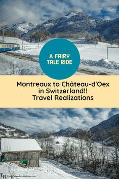 I boarded a train from Montreaux to Château-d'Oex, in Switzerland on a Christmas day and savored a fairytale ride through the Alps. Spend some time with yourself and see how a simple journey turns to your very own fairytale ride. #Switzerland #TravelInspiration #Christmas  #TravelSwitzerland