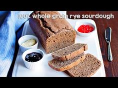 My simple recipe for 100% rye sourdough bread made from whole ground rye flour without using any wheat.