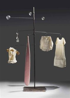"Louise Bourgeois ~ ""Seamstress, mistress, distress, stress"" (1997) Steel, cloth, rubber, glass, bone"