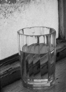 Glass of Water by Frosty Window, 1989 by Kristoffer Albrecht