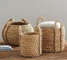Shop basket tote from Pottery Barn. Our furniture, home decor and accessories collections feature basket tote in quality materials and classic styles. Sisal, Basket Weaving, Hand Weaving, Life On Virginia Street, Driven By Decor, Custom Rugs, Spring Home, Storage Baskets, Pot Storage