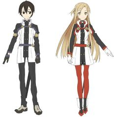 Kirito and Asuna from the yet unreleased Sword Art Online Movie
