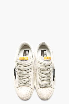Golden Goose: Off-white Distressed Grey Cord Superstar
