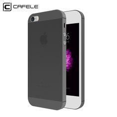 CAFELE 클리어 케이스 SE 5 초 케이스 슈퍼 슬림 PP 전화 커버 아이폰 5 SE 5 초 울트라 얇은 투명 유연성 쉘