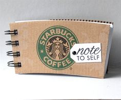 "Awesome ""Recipe Notebook"" Idea to go next to our expresso machine... that way guests can make their favorite starbucks creation when they stay with us!"