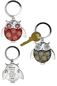 Wise in Love Owl Keychain at The Child Health Site. Purchase funds medicine for 4 children!