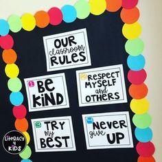 Classroom Rules Freebie by Literacy 4 Kids Classroom Rules Display, Classroom Rules Poster, Classroom Board, Middle School Classroom, Future Classroom, Classroom Organization, Class Rules Display, Cute Classroom Decorations, Kindergarten Bulletin Boards