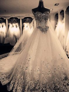 Wouldn't say my dream wedding dress, but it sure is close!! I love the bling!!