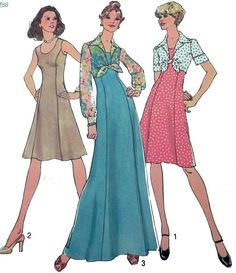 Cute 70s dress sewing pattern.  Simplicity by retroactivefuture
