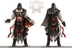 Ezio Auditore de Firenze in Altair's armor, Assassin's Creed 2.