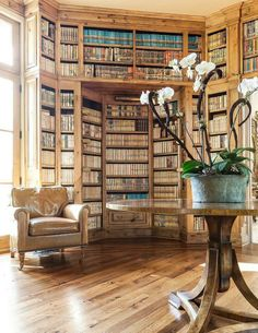 I have often wondered what the perfect home library would look like. I think I found it.