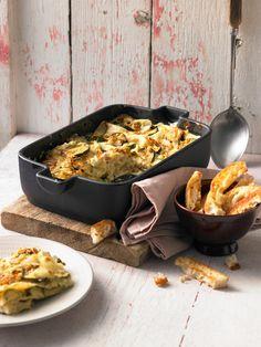 Veggie-Lasagne mit Zucchini und Schafskäse