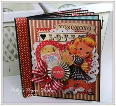 Hey there Peeps! I'm just popping in to share the Retro Valentine Mini Album we created in class...