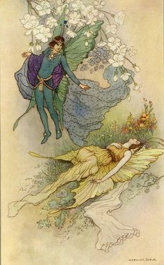 Act II scene ii, Oberon: What thou seest when thou dost awake/ Do it for thy true love take; Warwick Goble