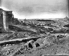 Castillo de San Servando hacia 1880. Fotografía de Levy