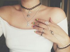 Image via We Heart It #aesthetic #bambi #choker #cute #fashion #girls #grunge #indie #life #love #necklace #rings #style #top #white #softgrunge