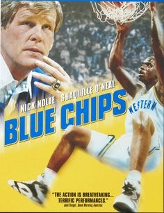Blue Chips. Shaq, Damon Bailey and Matt Nover star in this movie as the Blue Chip player. Nic Nolte plays a Bobby Knight type coach. He has to decide whether to cheat or play it straight in the recruiting of star players.  Penny Hardaway played point with Shaq before he was drafted to play with the Orlando Magic.