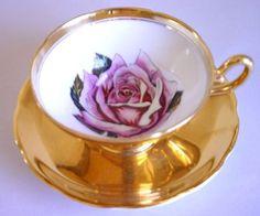 gilded tea cup