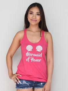 Mermaid Of Honor Racerback Tank