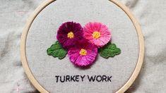 Turkey work stitch  터키워크 스티치 스미르나 스티치 Needlepoint, Hand Embroidery, Cross Stitch, Flowers, Design, Punto De Cruz, Seed Stitch, Cross Stitches, Punto Croce