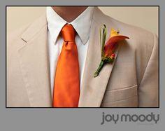 orange with cream/beige