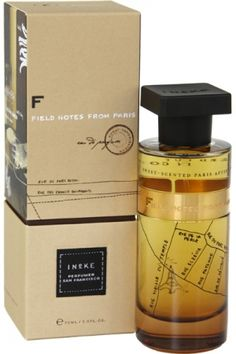 Field Notes from Paris from Ineke Perfumes -- leather, tobacco, vanilla -- gorgeous, unisex scent.