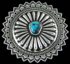 7754a4f953ba Arland Ben Rare High Grade Bisbee Turquoise Reposse Belt Buckle