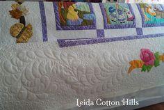 Leida Cotton Hills. Acolchados con máquina de brazo largo