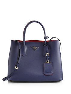 263bc828e0687d Prada - Saffiano Cuir Small Double Bag Prada Saffiano, Shoulder Bag,  Handbags, Accessories