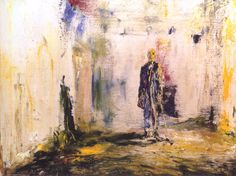 Jack B. Yeats The Old Walls 1945 oil on canvas 46 x National Gallery of Ireland, Dublin Large Canvas, Oil On Canvas, Kensington School, Jack B, Old Wall, Contemporary Paintings, Art Drawings, Old Things, Fine Art