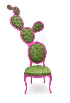 Pink cactus chair.  That's a showstopper right there.