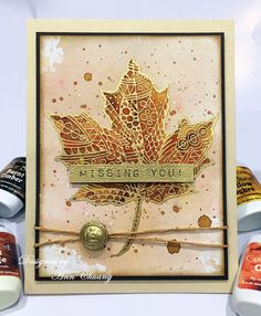 Hi everyone, It is fall...leaves are changing and falling to the ground...I love this time of year. When I seen Stampendous Pen Pattern Le...