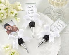 """""""Capture the Moment"""" Glass Photo Holder Bottle Stopper - Elegant Wedding Favors http://www.favorcouture.theaspenshops.com"""