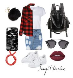 """"""""""" by llizl on Polyvore featuring мода, RE/DONE, adidas, Mr. Gugu & Miss Go, Christian Dior, New Look и Lime Crime"""