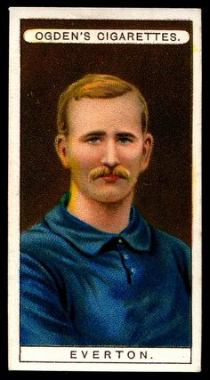 """Ogden's Cigarettes """"Football Club Colours"""" (series of 51 issued in Everton Bristol Rovers, Everton Fc, Old Postcards, Football Fans, Trading Cards, Liverpool, How To Memorize Things, Baseball Cards, Club"""