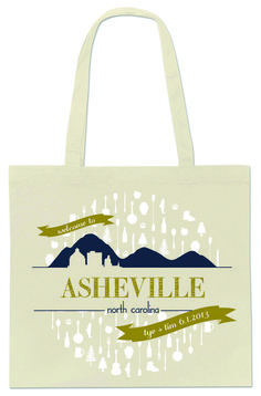 Free download by Mink Letterpress to take to your screenprinter! Perfect for a destination wedding in Asheville!