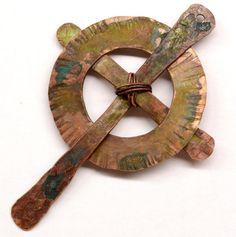 Celtic Cross - Handmade Rustic Copper Pendant Component PN165