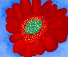 """Gerbera Daisy. Age 10 - Lesson plans for """"Art in the Style of _______"""" for every artist from Van Gogh, Monet, to O'Keefe and Calder"""