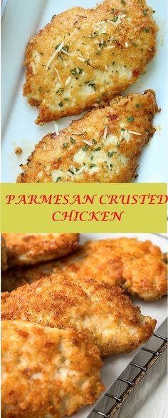 trend recipes This Prmesn Crusted Chicken is n esy mel ide . We use pounded thin chicken brests, cot in delicious Prmesn coting, nd then fr. Meat Recipes, Dinner Recipes, Cooking Recipes, Healthy Recipes, Dinner Ideas, Breakfast Recipes, Cake Recipes, Recipies, Dessert Recipes