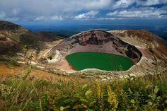 Lago volcánico Okama, monte Zao – Honshu, Japón