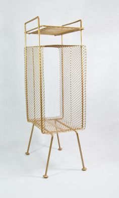 Delicieux Vintage Metal Mesh Telephone Stand With Shelf. Size: 9.5 L X 6.5 W X