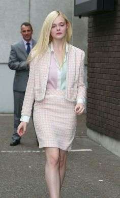 Elle Fanning Style – Leaving ITV Studios in London – May 2014