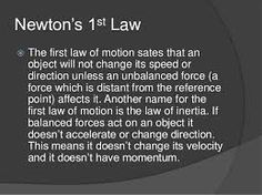 Image result for newtons first law in action