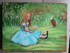 …original oil painting by artist Nancy Wiley for Earth Angels Studios…from her beloved Wonderland Series… http://www.earthangelsstudios.com/Paintings-C629.aspx