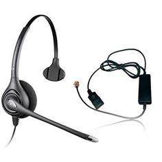 Plantronics SupraPlus HW251N  with A10 Adapter  wideband monaural headset delivers the highest level of audio performance even in noisy environments.
