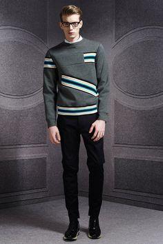Viktor & Rolf | Fall 2014 Menswear Collection--like the banding on the sweatshirt