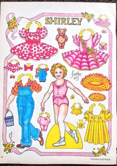 Shirley Temple Paper Doll by Pat Frey 1983 National Doll World Mag   eBay