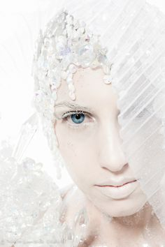 Modern fairytale/karen cox. Fairy tale fashion fantasy in white. Snow / Ice Queen.  .#snow queen