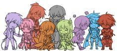 (Elsword) Add, Eve, Elesis, Ara, Raven, Rena, Aisha, Chung, Elsword